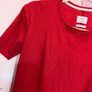 Rag and bone red t shirt medium